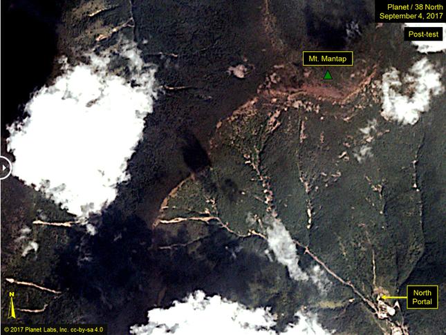Hình ảnh đầu tiên tại nơi thử bom hạt nhân mạnh nhất của Triều Tiên - ảnh 2